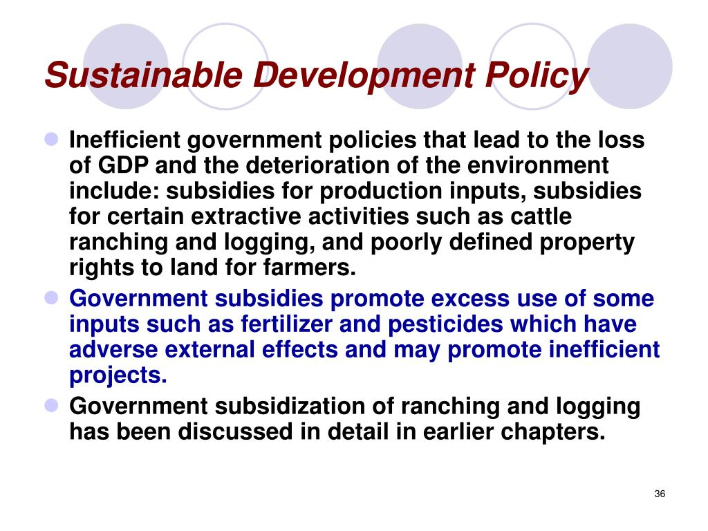 Sustainable Development Policy