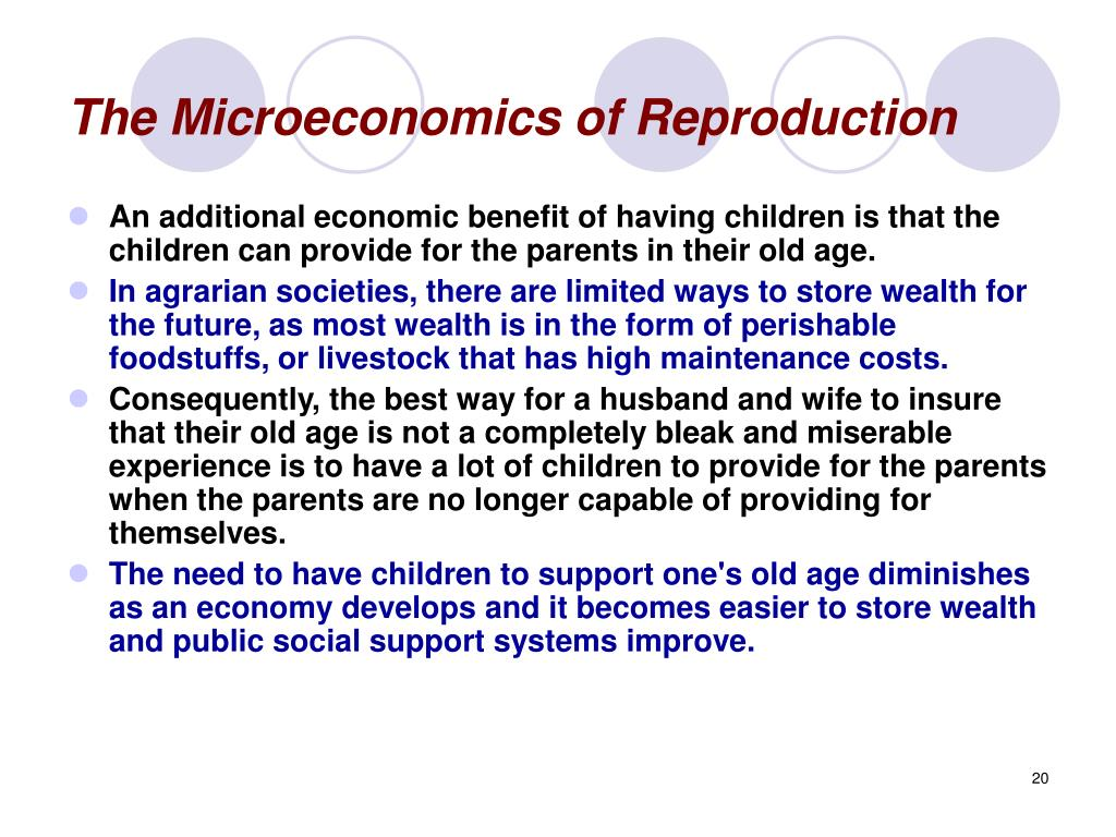 The Microeconomics of Reproduction