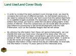 land use land cover study