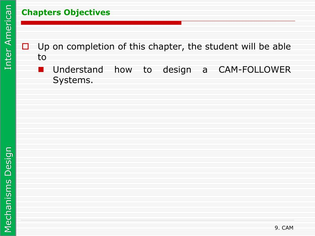 Chapters Objectives