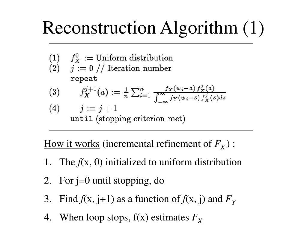 Reconstruction Algorithm (1)