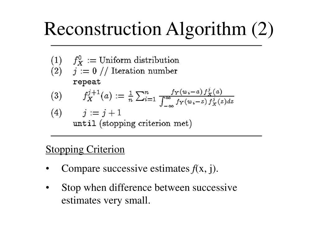 Reconstruction Algorithm (2)