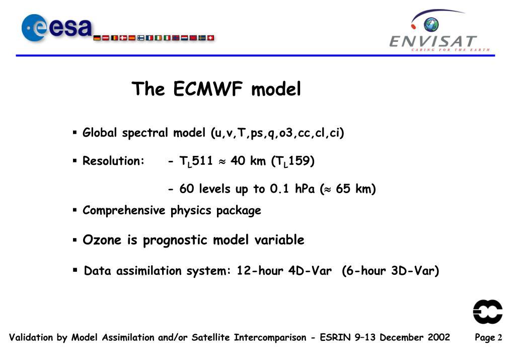 The ECMWF model