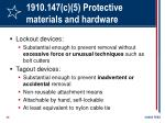 1910 147 c 5 protective materials and hardware30