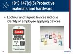 1910 147 c 5 protective materials and hardware31