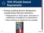 1910 147 c iii general requirements