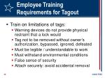 employee training requirements for tagout