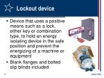 lockout device