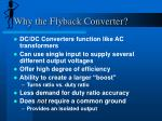 why the flyback converter