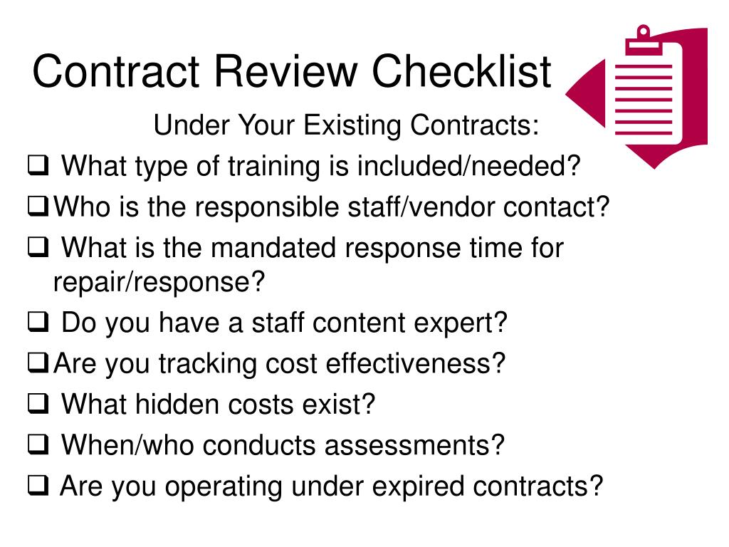 Contract Review Checklist