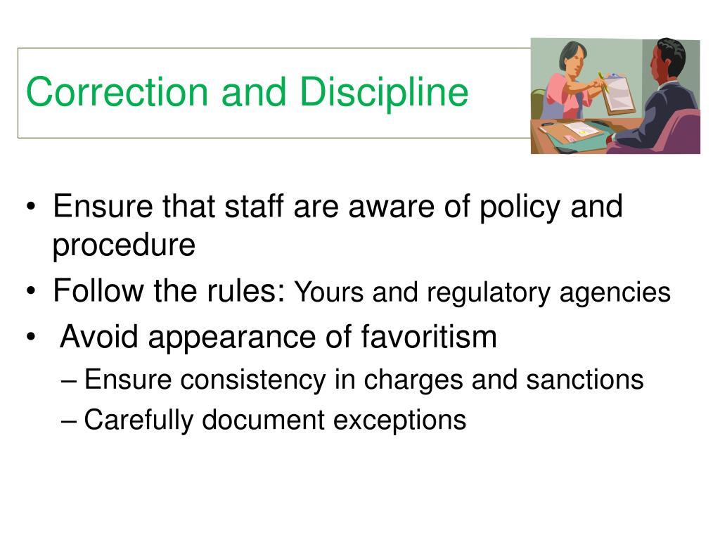 Correction and Discipline
