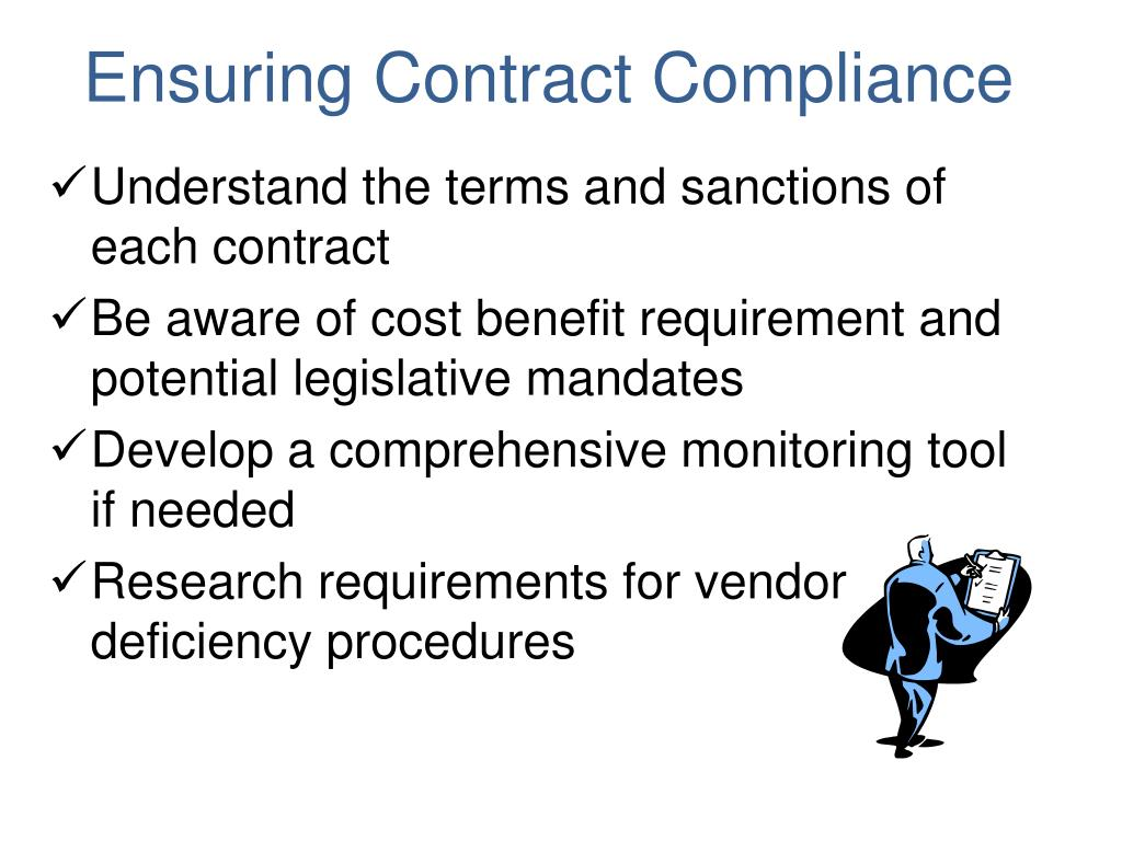 Ensuring Contract Compliance