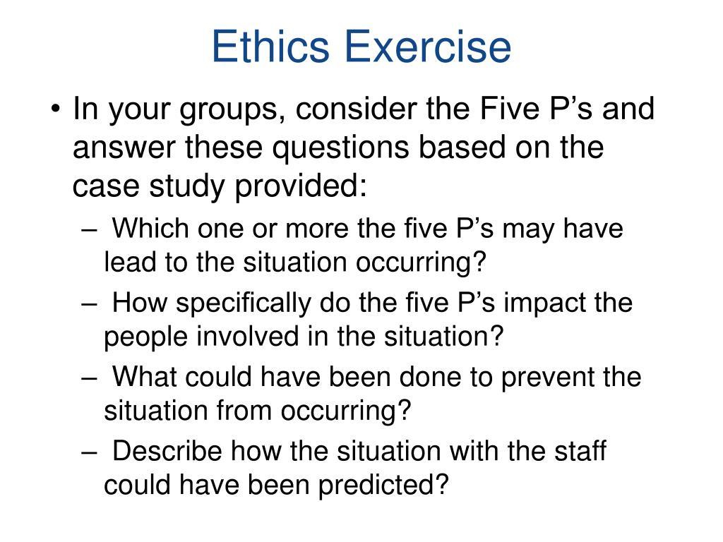Ethics Exercise
