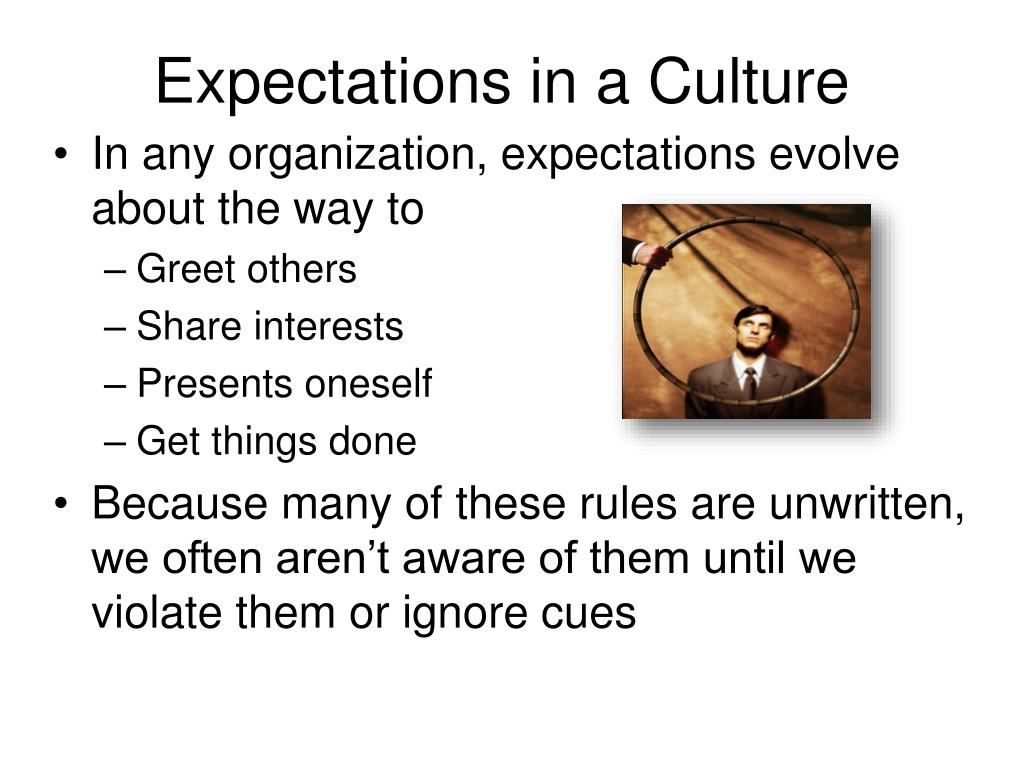 Expectations in a Culture