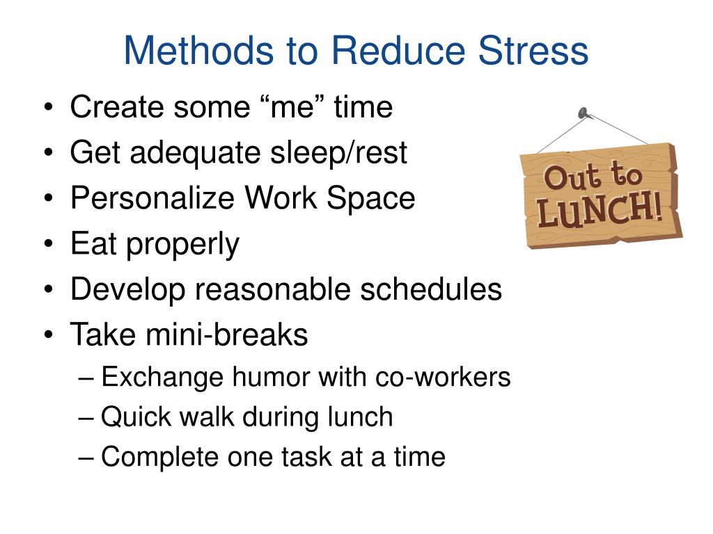 Methods to Reduce Stress