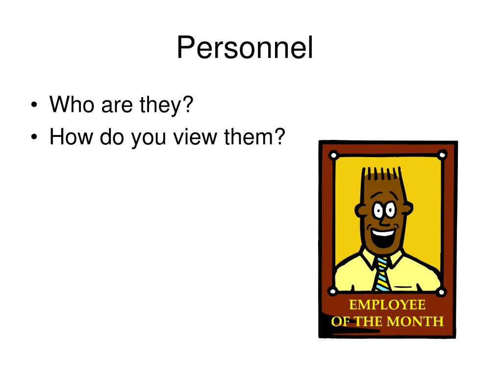 Personnel