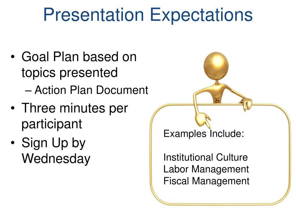 Presentation Expectations