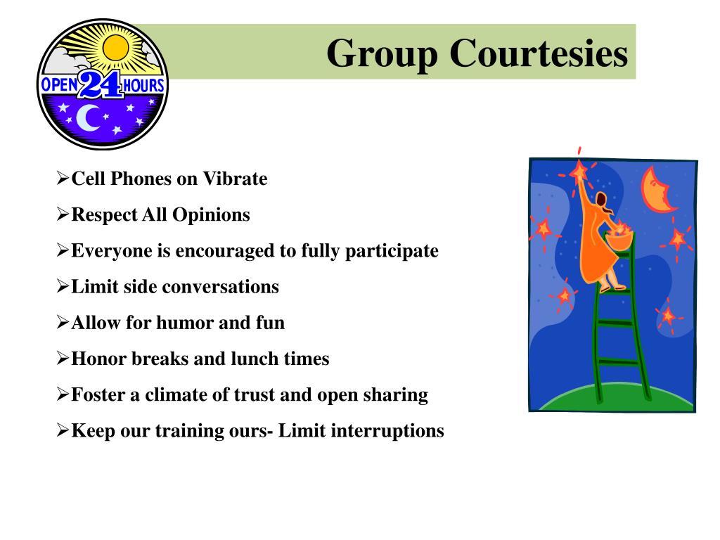 Group Courtesies
