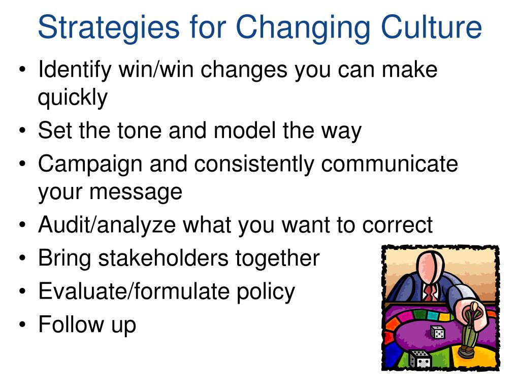 Strategies for Changing Culture