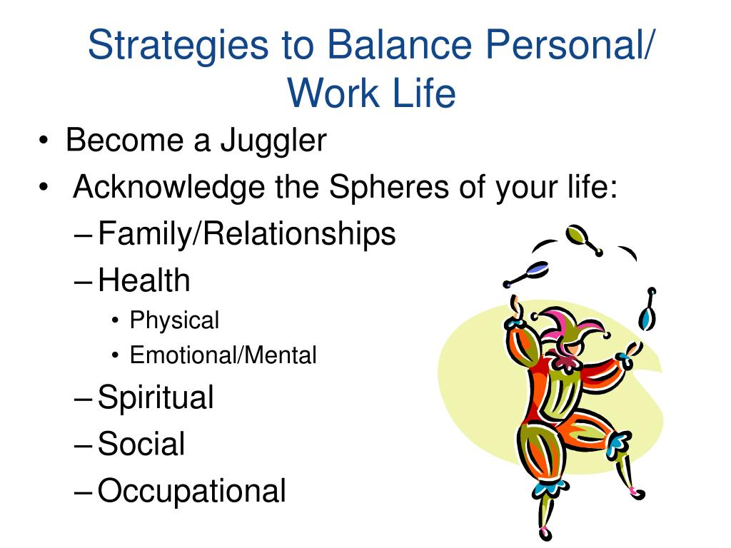 Strategies to Balance Personal/ Work Life