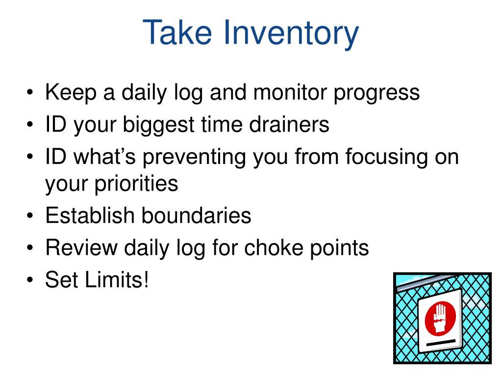 Take Inventory