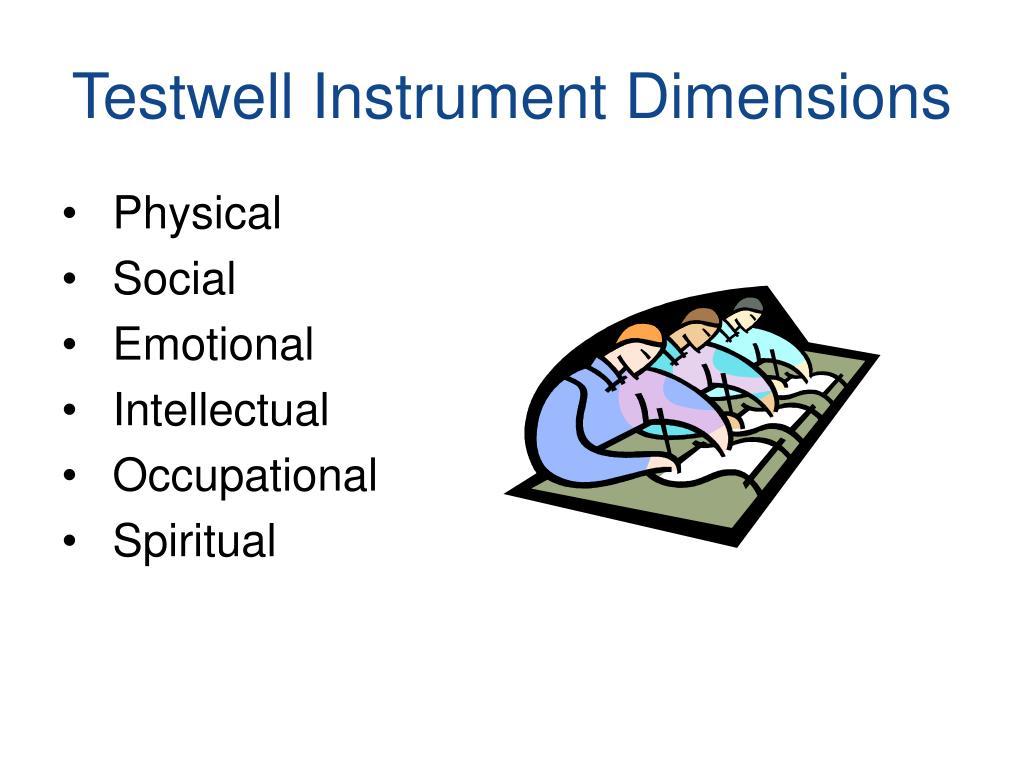 Testwell Instrument Dimensions
