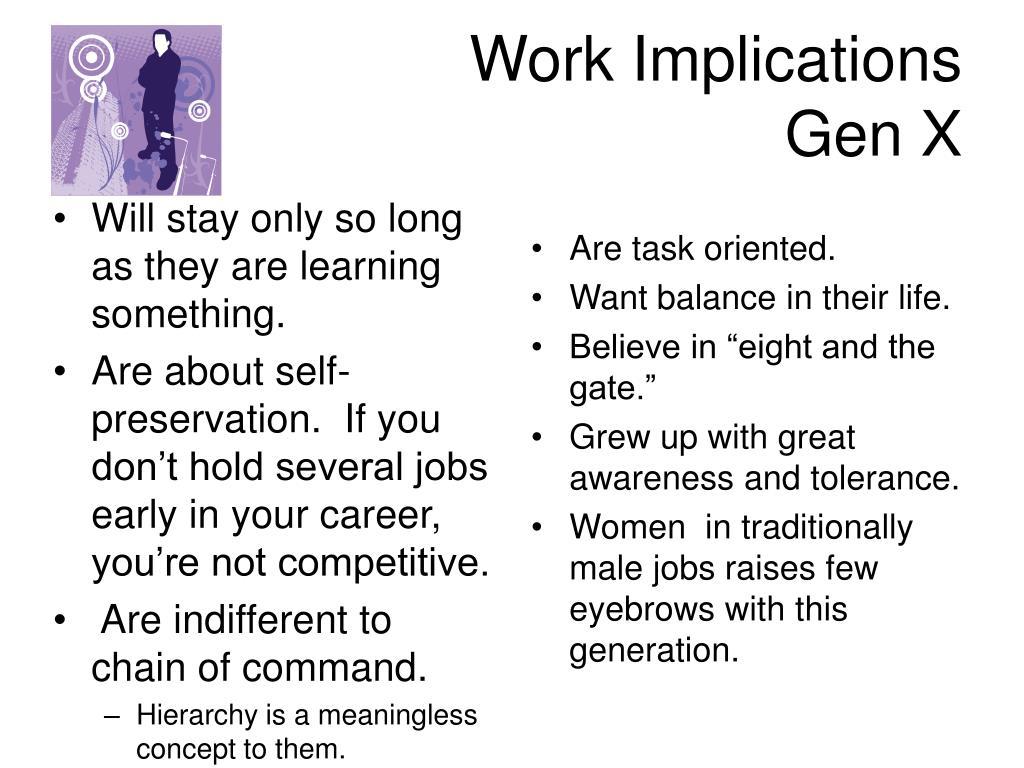 Work Implications