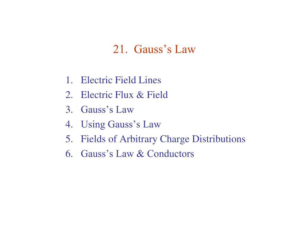 21 gauss s law l.