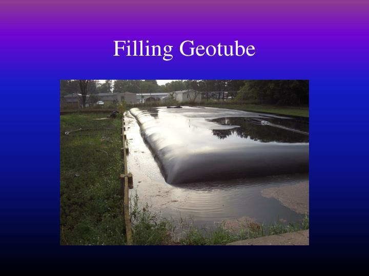Filling Geotube