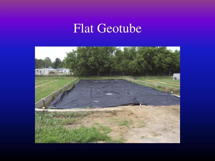 Flat Geotube