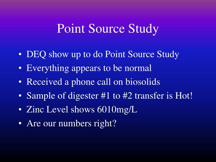 Point Source Study