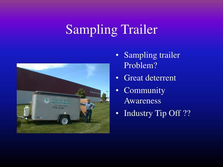 Sampling Trailer
