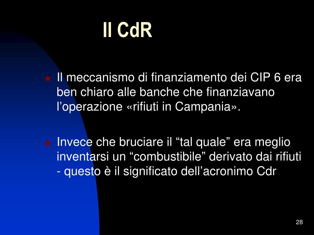 Il CdR