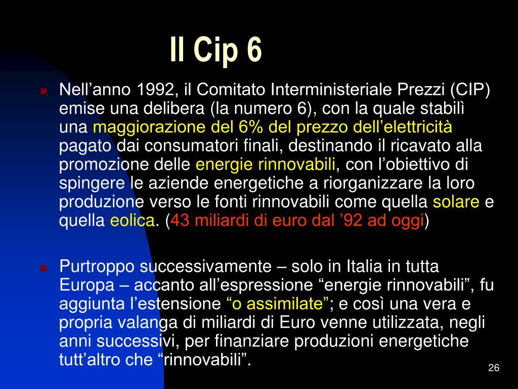 Il Cip 6