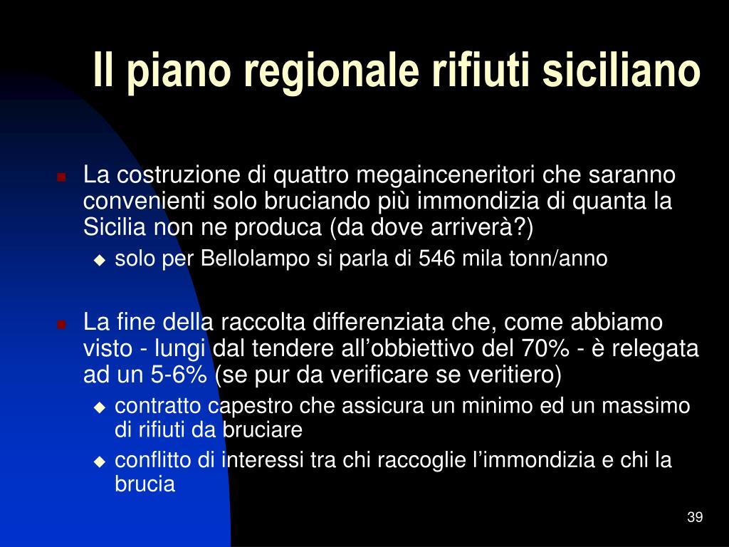 Il piano regionale rifiuti siciliano