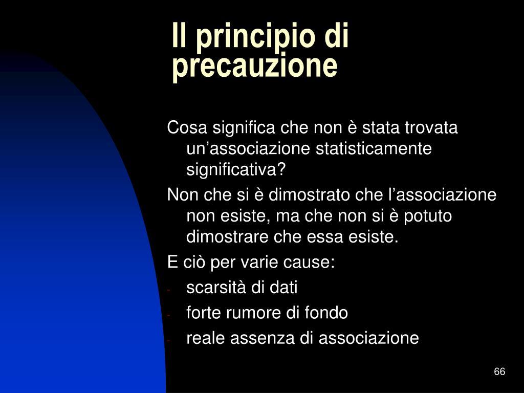 Il principio di precauzione