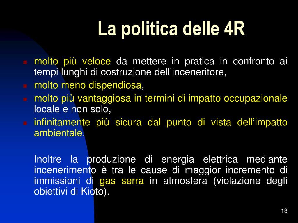 La politica delle 4R