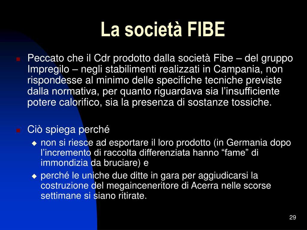 La società FIBE