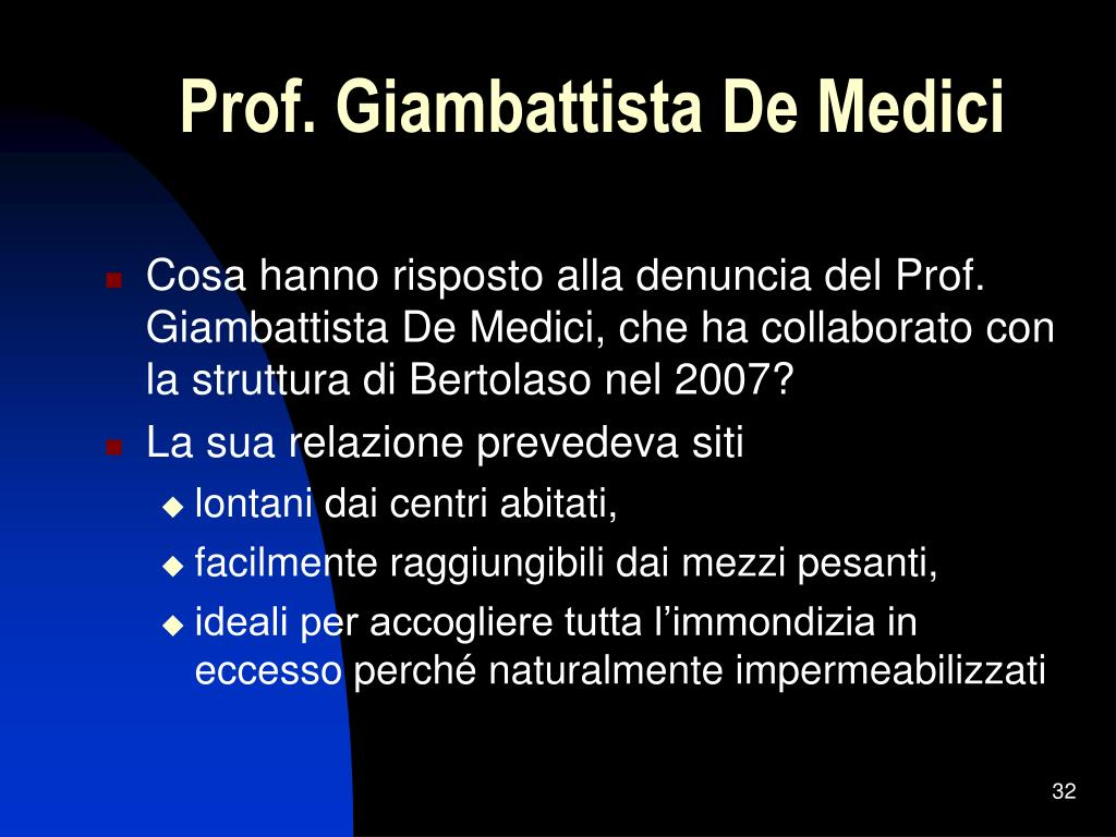 Prof. Giambattista De Medici