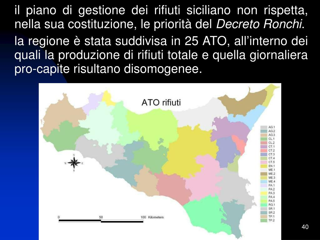 il piano di gestione dei rifiuti siciliano non rispetta, nella sua costituzione, le priorità del