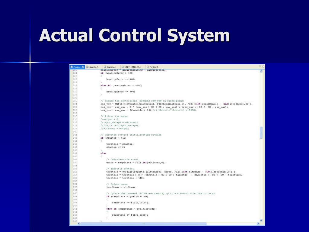 Actual Control System