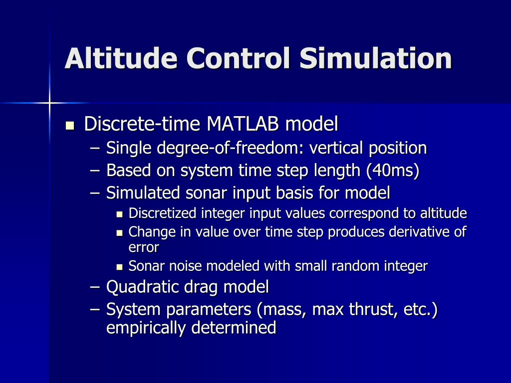 Altitude Control Simulation