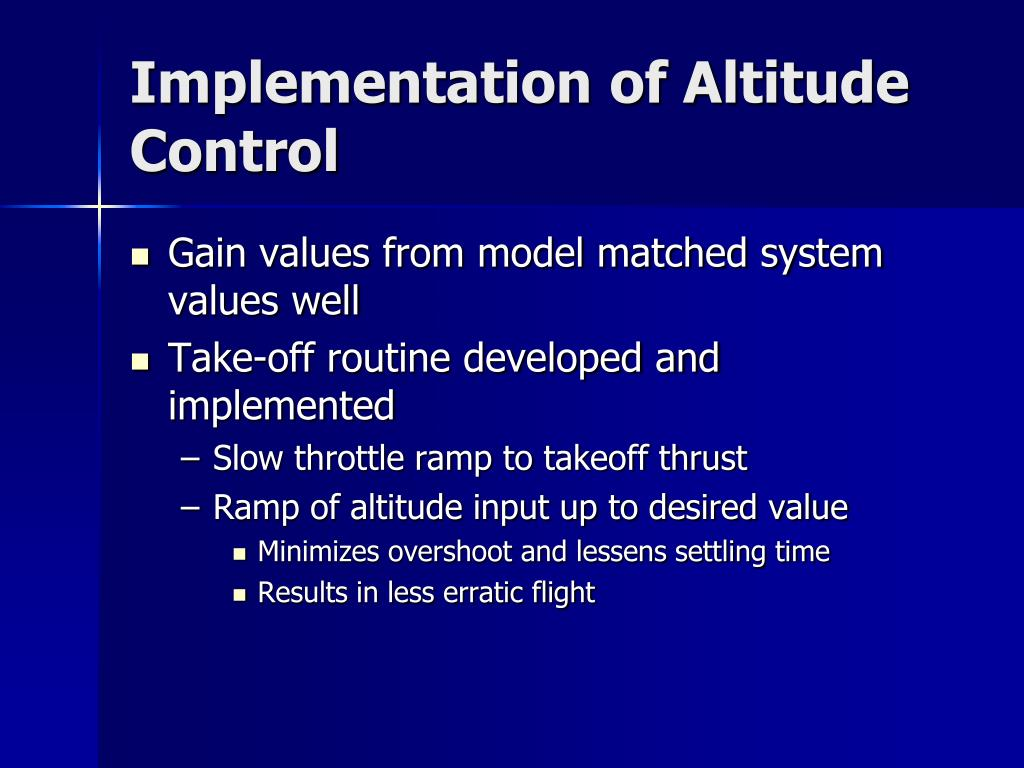 Implementation of Altitude Control