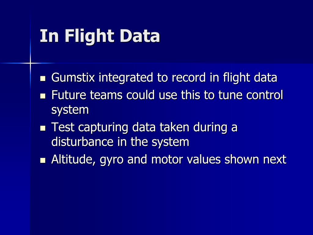 In Flight Data