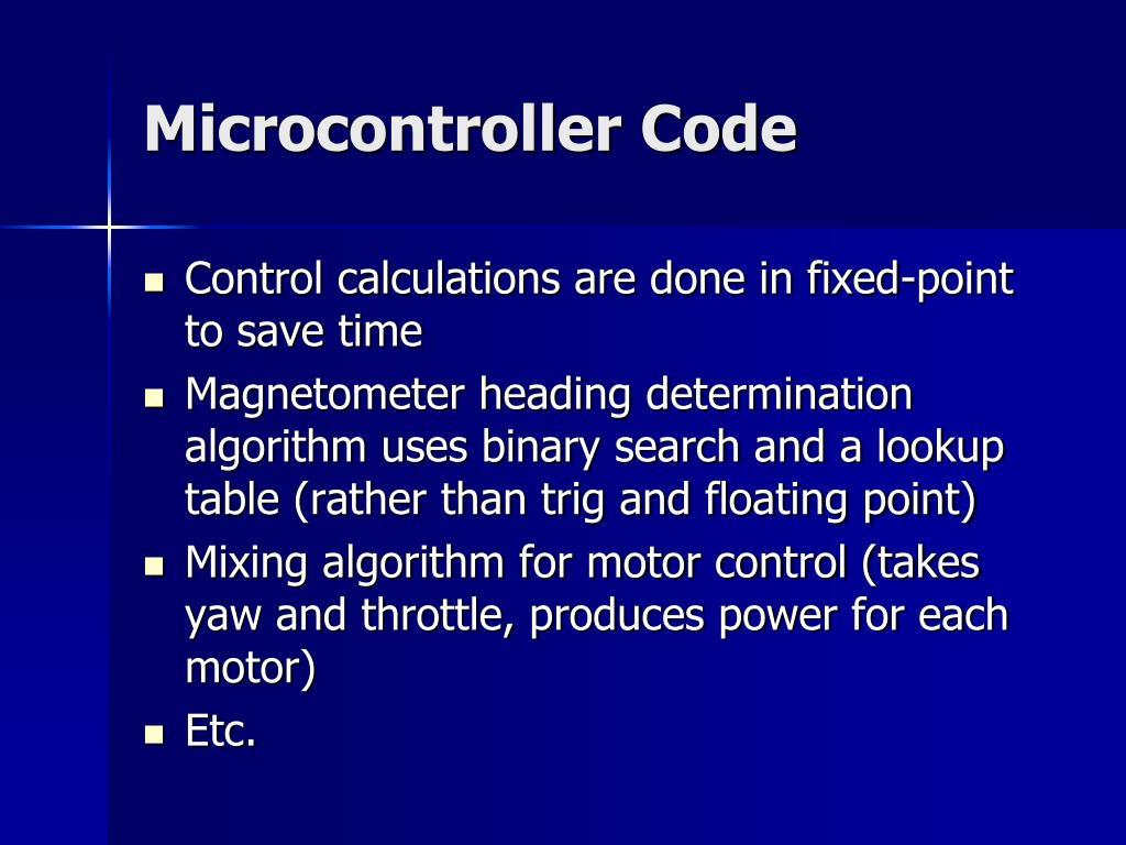Microcontroller Code