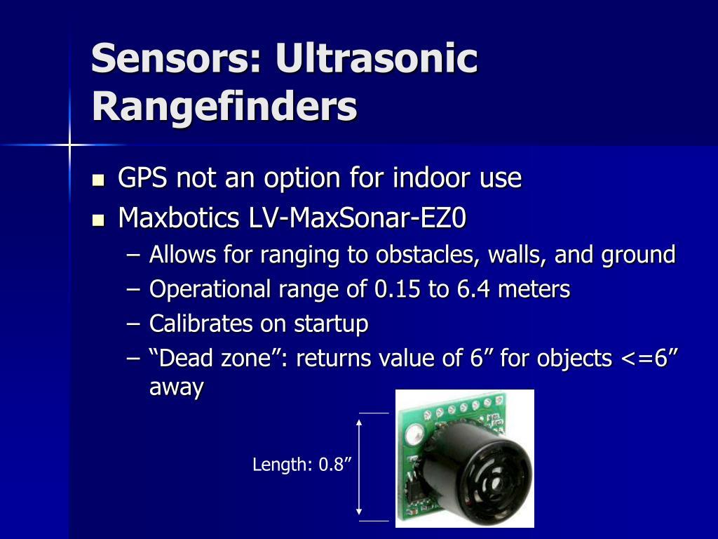 Sensors: Ultrasonic Rangefinders
