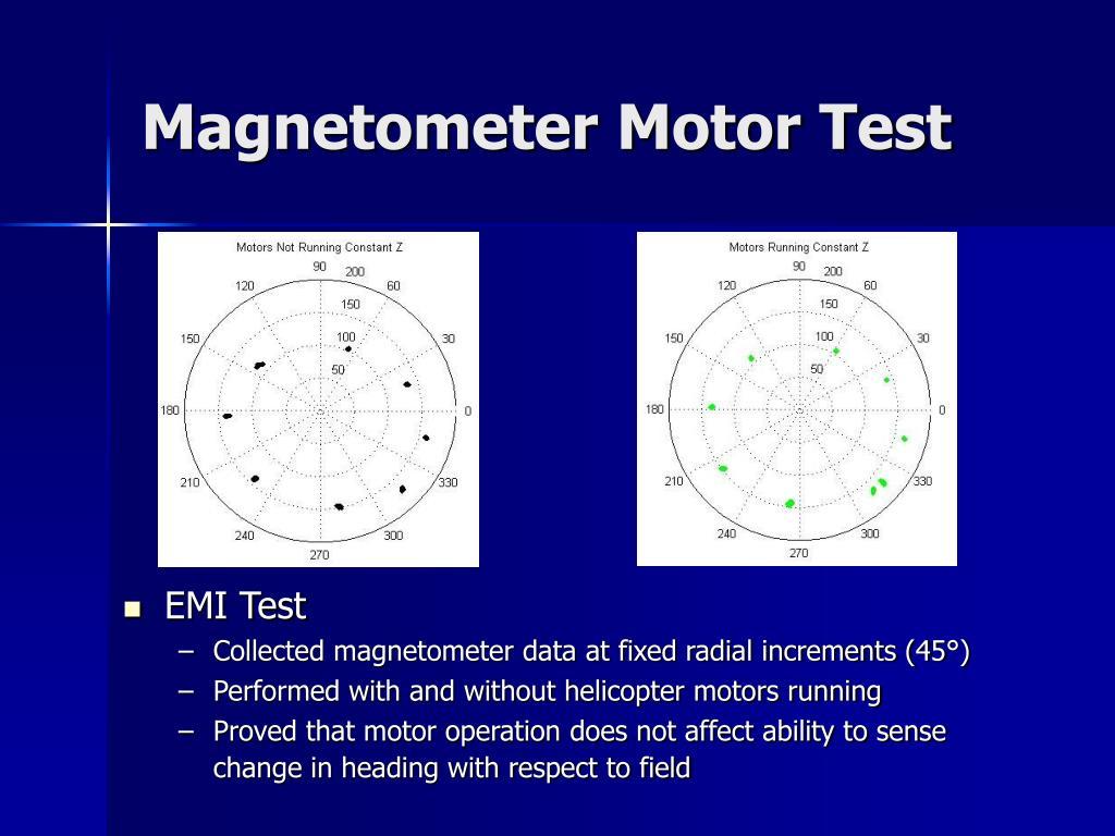 Magnetometer Motor Test