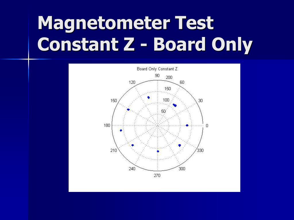 Magnetometer Test
