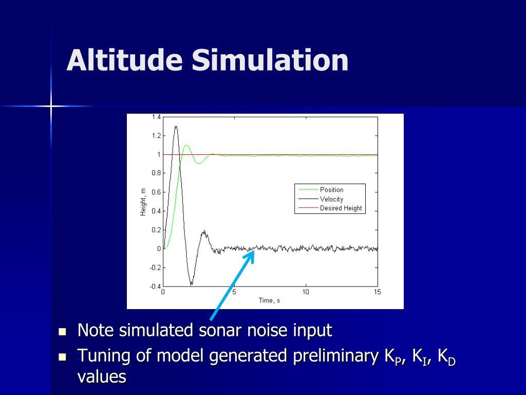 Altitude Simulation