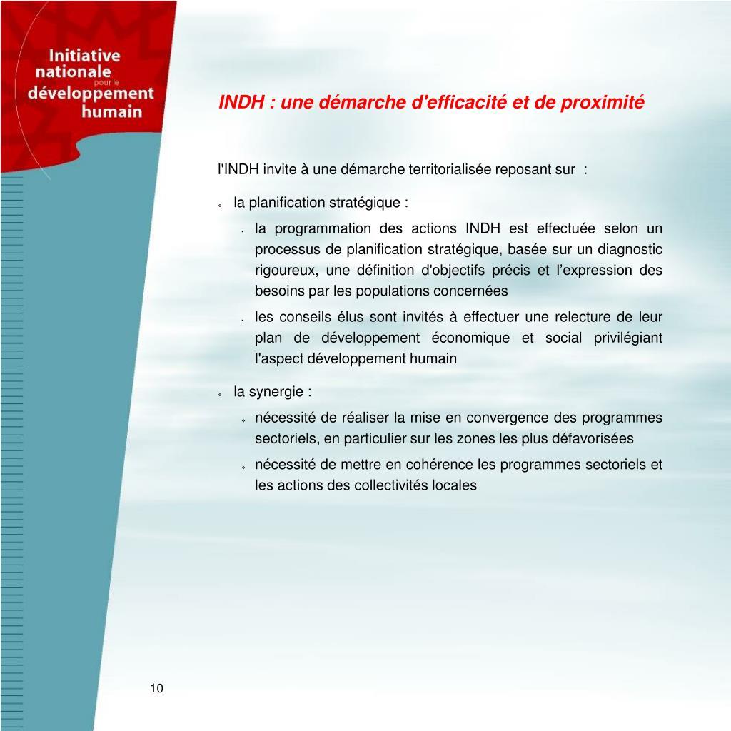 INDH : une démarche d'efficacité et de proximité
